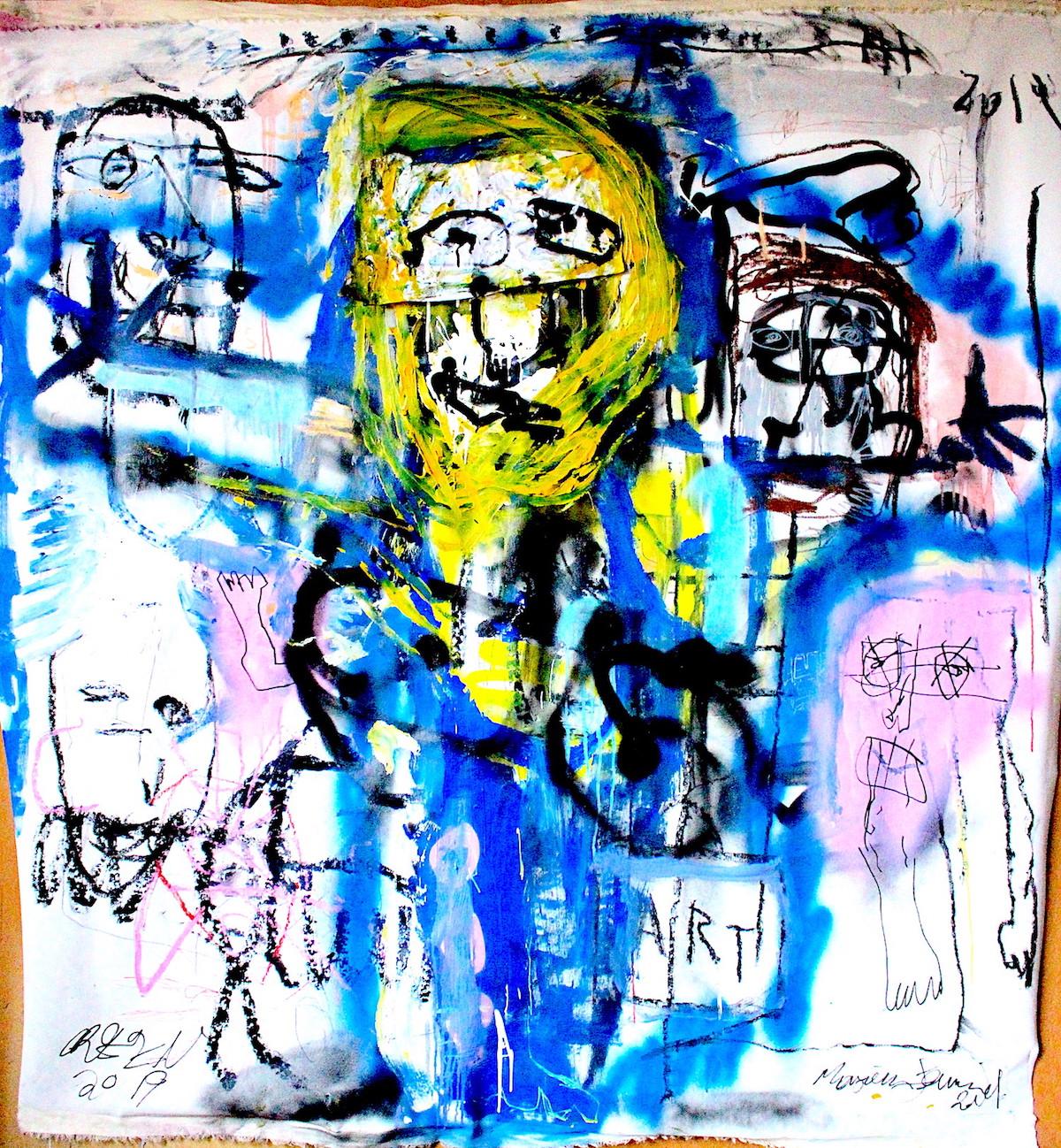 Cricifix by James Green Artist & Monsieur Jamin