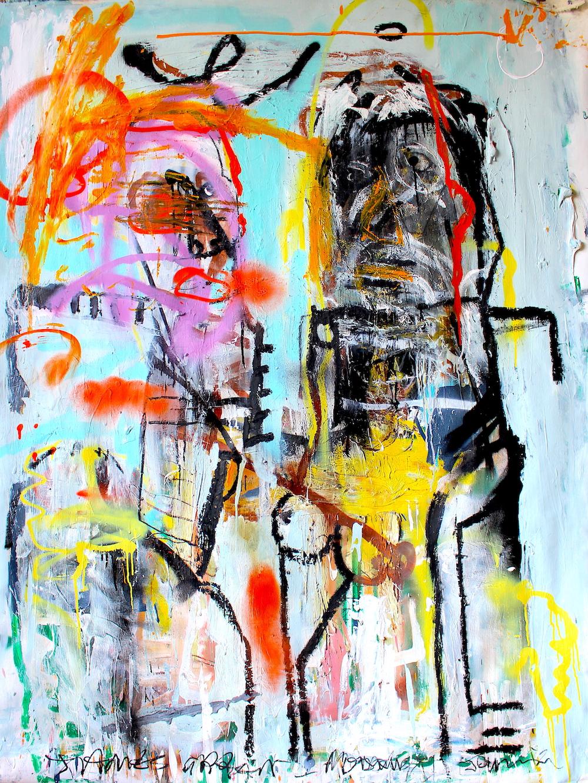 Happy couple by James Green Artist & Monsieur Jamin